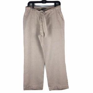 Talbots Wide Leg Linen Pant Size 10P